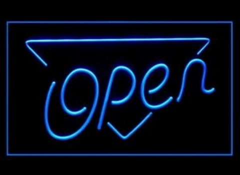 Now Open LED Neon Sign