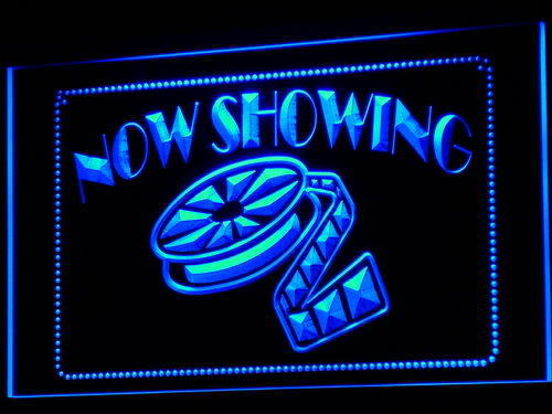 Now Showing Filming Film Movies Neon Light Sign