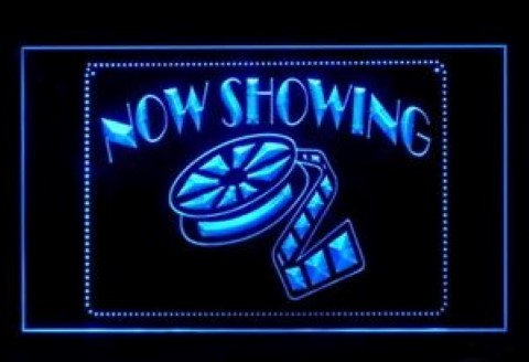 Now Showing LED Neon Sign