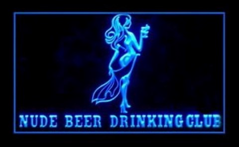Nude Beer Drinking Club LED Neon Sign