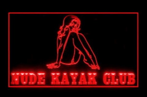 Nude Kayak Club LED Neon Sign