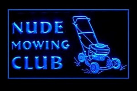 Nude Mowing Club LED Neon Sign