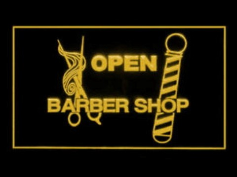 OPEN BARBER SHOP Hair Hairdresser LED Neon Sign