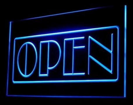 OPEN Boutique LED Neon Sign