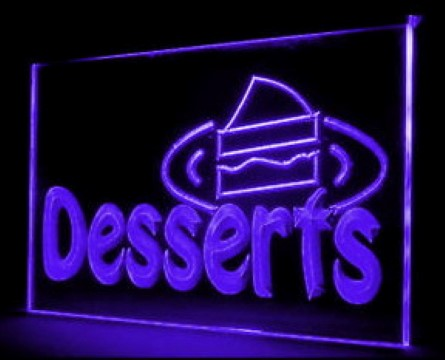 OPEN Cake Desserts LED Neon Sign