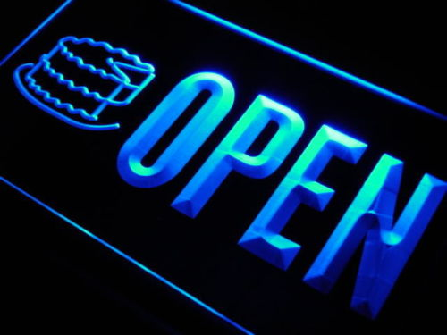 OPEN Cake Shop Birthday Bakery Neon Light Sign