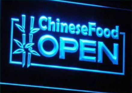 OPEN Chinese Food Displays Cafe Neon Light Sign