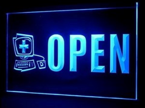 OPEN Computer Doctor Repairs LED Neon Sign