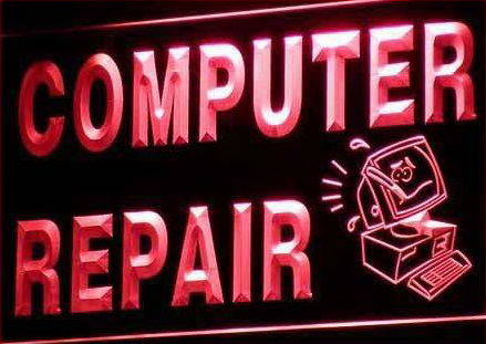 OPEN Computer Repair Display Shop NEW Light Sign