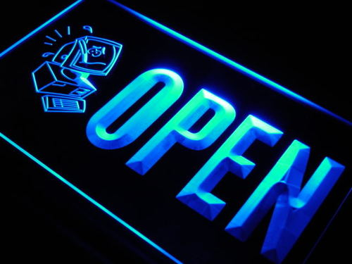 OPEN Computer Repair Expert Shop Neon Light Sign