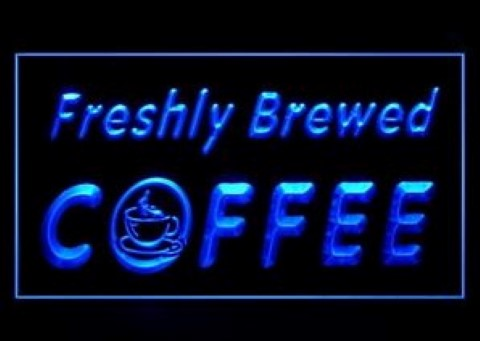 OPEN Freshly Brewed Coffee LED Neon Sign