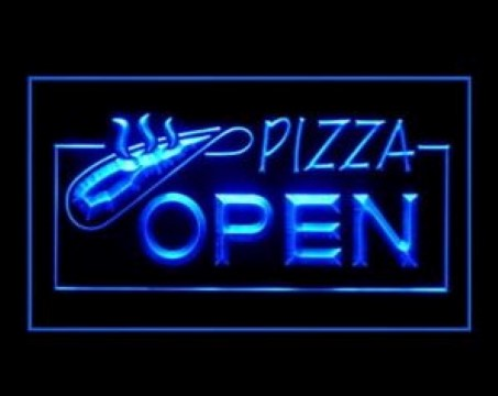 OPEN HOT Pizza Restaurant LED Neon Sign