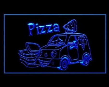 OPEN Hot Pizza Cafe delivery LED Neon Sign