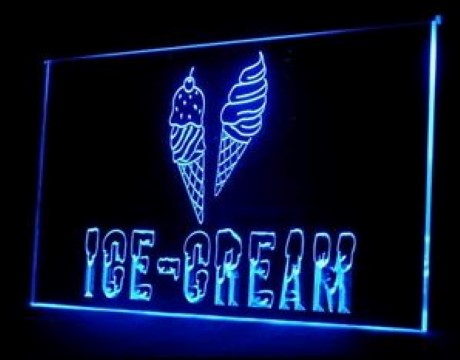 OPEN Ice Cream LED Neon Sign