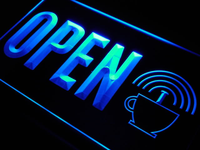 OPEN Internet Wi Fi Free Shop LED Neon Light Sign