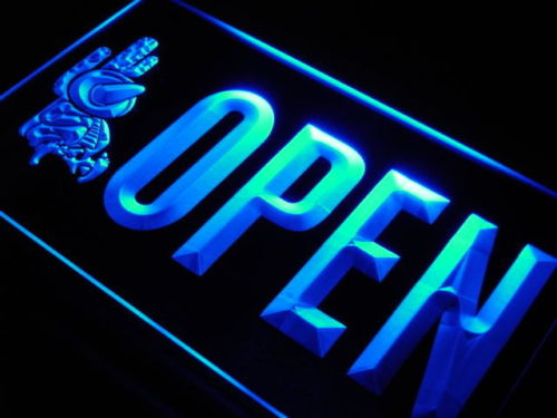 OPEN Mexican Food Cactus Bar Neon Light Sign