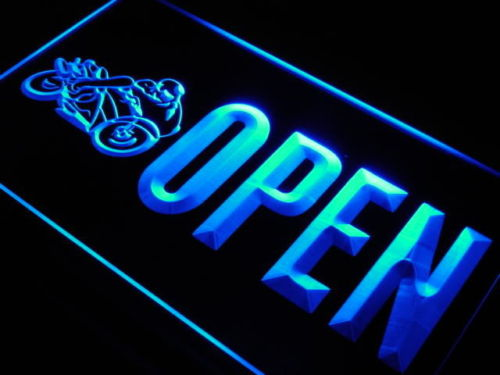 OPEN Motorcycles LED Light Sign