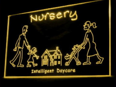 OPEN Nursery Intelligent Day Care LED Neon Sign
