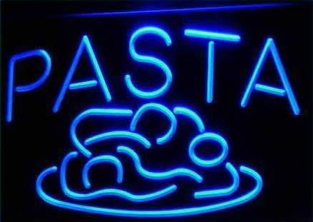 OPEN Pasta Cafe Restaurant Pizza Neon Light Sign