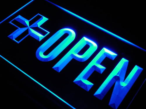 OPEN Pharmacy Drugs RX Shop Neon Light Sign