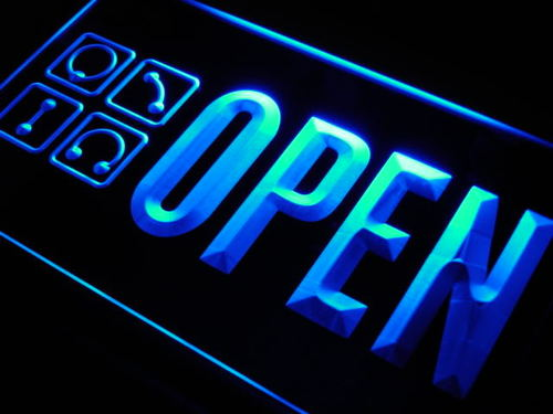 OPEN Piercing Shop Pierce Tattoo Neon Light Sign