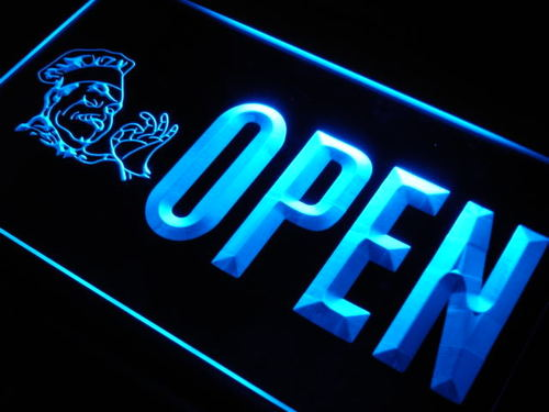 OPEN Pizza Cafe Shop Restaurant Neon Light Sign