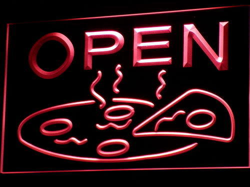 OPEN Pizza Display Cafe Neon Light Sign