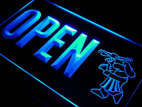 OPEN Pizza Shop Cafe Bar Shop Neon Light Sign