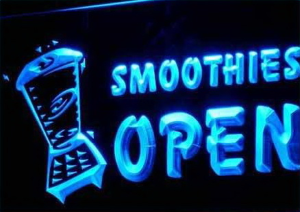 OPEN SMOOTHIES Drink Smoothie Neon Light Sign