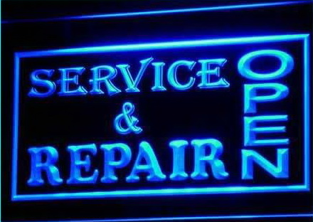OPEN Service & Repair Shop Business Light Sign