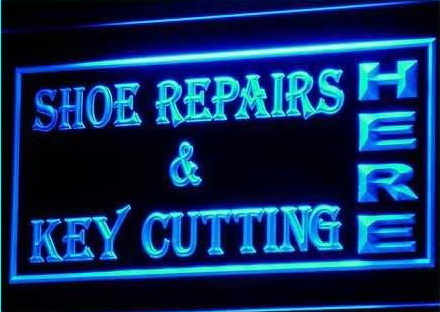 OPEN Shoes Repairs Key Cutting Neon Light Signs
