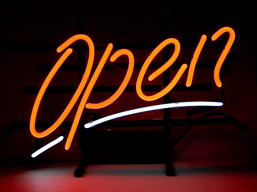 OPEN Shop Store Script Neon Sign