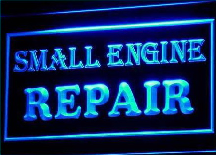 OPEN Small Engine Repair Display Neon Light Sign