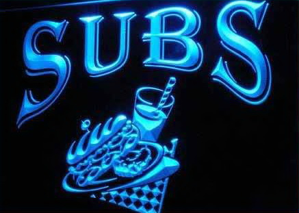 OPEN Subs Sandwiches Cafe Shop Neon Light Signs