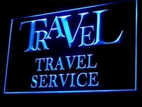 OPEN Travel Agency Service LED Neon Sign