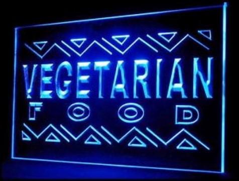 OPEN Vegetarian Restaurant Food LED Neon Sign