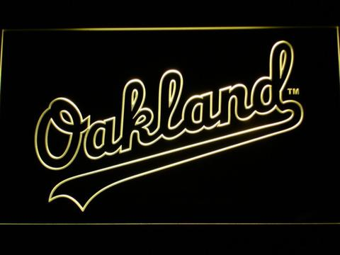 Oakland Athletics Oakland Wordmark LED Neon Sign