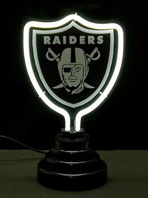 Oakland Raiders NFL Neon Bar Mancave Sign