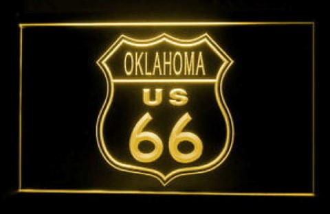 Oklahoma Route 66 LED Neon Sign