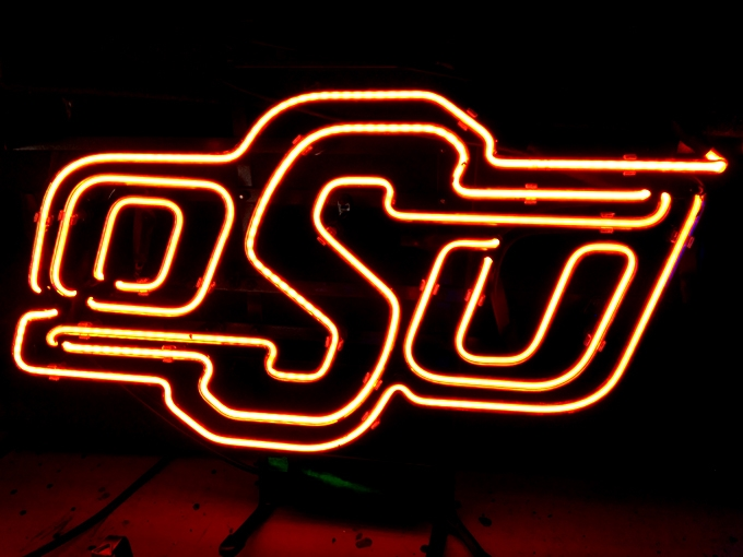 Oklahoma State University Bar Neon Light Sign 17 x 12