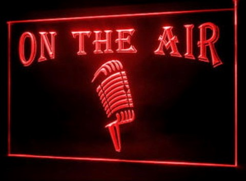 On The Air Microphone Custom Name LED Neon Sign