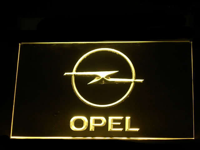 Opel Service LED Light Sign