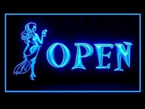 Open Bar Guest Lady Night Party LED Neon Sign
