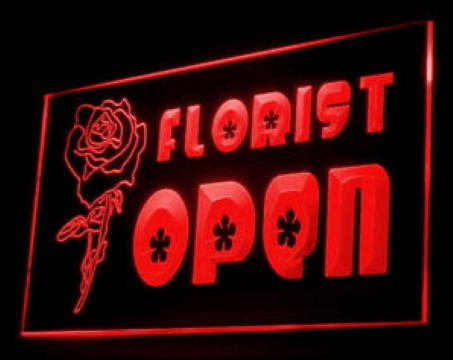 Open Florist Shop LED Neon Sign