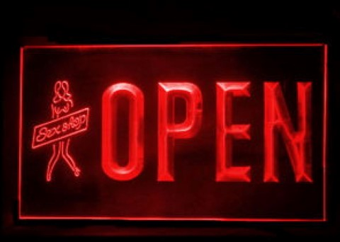 Open Sexy Sex Girls Adult Shop LED Neon Sign
