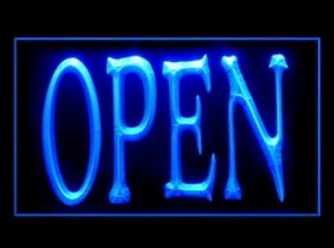 Open Sign 2 LED Neon Sign