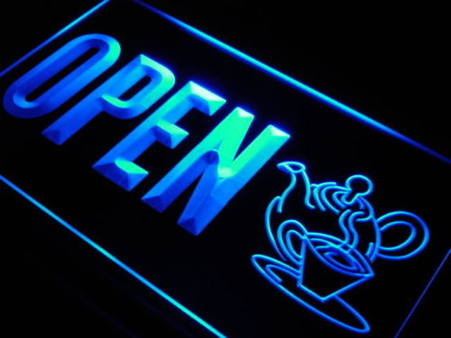 Open Tea Shop LED Light Sign