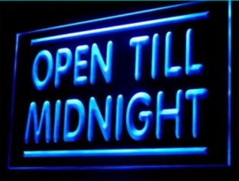 Open Till Midnight LED Neon Sign