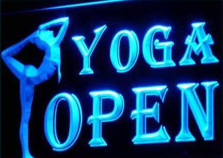 Open Yoga Logo LED Light Sign
