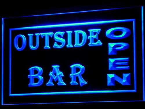 Outside Bar Pub Club Open Beer Neon Light Sign